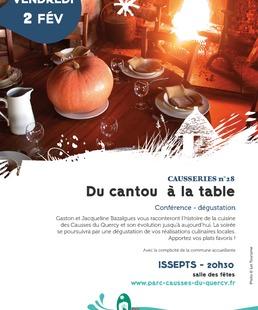 """Conférence - Dégustation : """"du Cantou à la Table"""""""