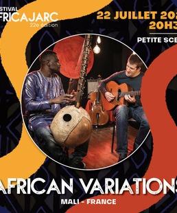 "Concert D'ouverture Africajarc ""AFRICAN VARIATIONS"""